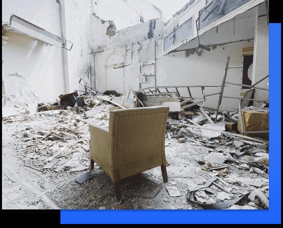 property is damaged