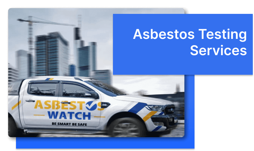 asbestos testing truck